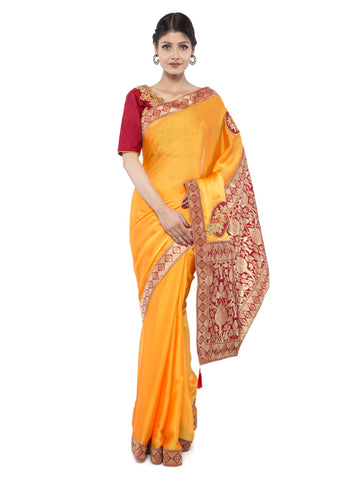 Yellow Color Art Silk Saree - vipul-38158