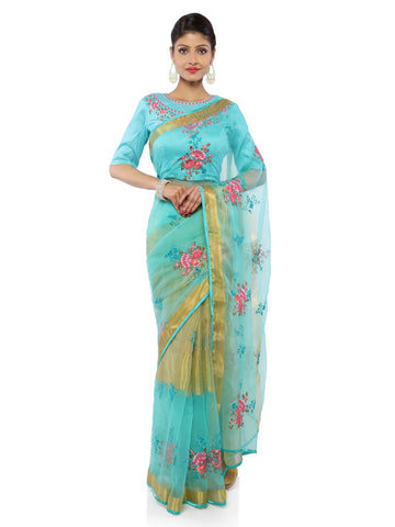 Sea Green Color Brasoo Saree - vipul-38332