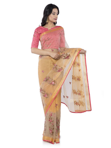 Beige Color Brasoo Saree - vipul-38334