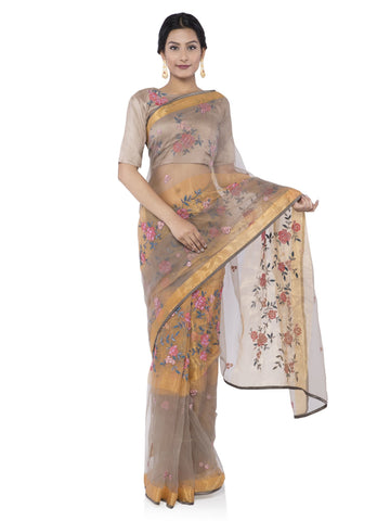 Beige Color Brasoo Saree - vipul-38338