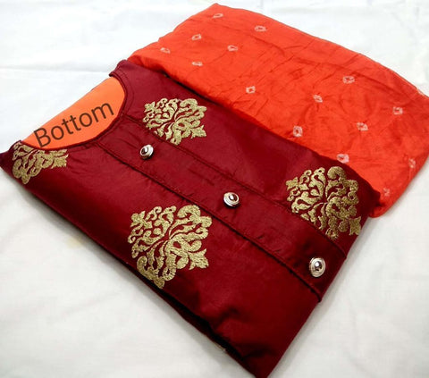 Maroon Color Poly Cotton Unstitched Salwar - vol004-3maroon