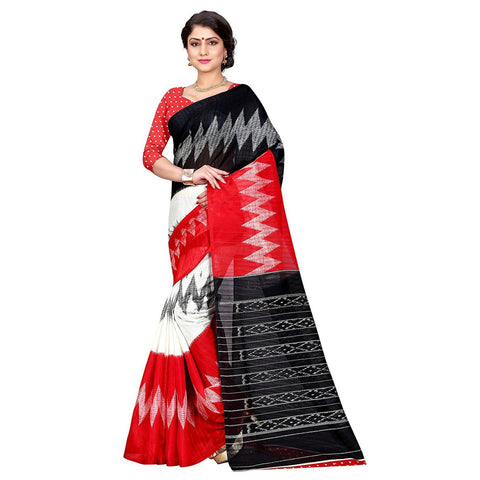 Red Color Bhagalpuri Silk Saree  - volvo-red
