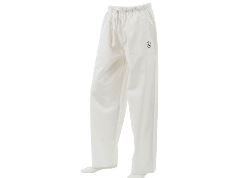 Buy White Color Cotton Woven Wringled Organic Pant