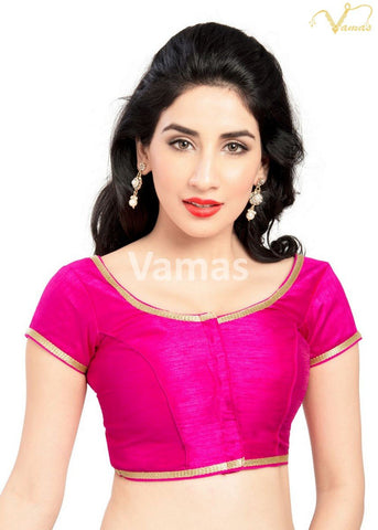 Pink Color Dupion Silk Stitched Blouse - x-193sl-pink