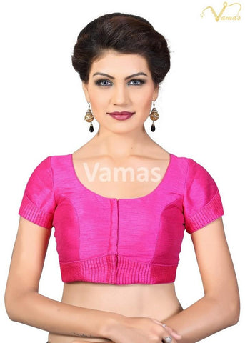 Pink Color Dupion Silk Stitched Blouse - x-372sl-pink