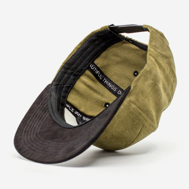 R-Anthony® Hat Olive Green 7 PANEL TWO TONE CAP