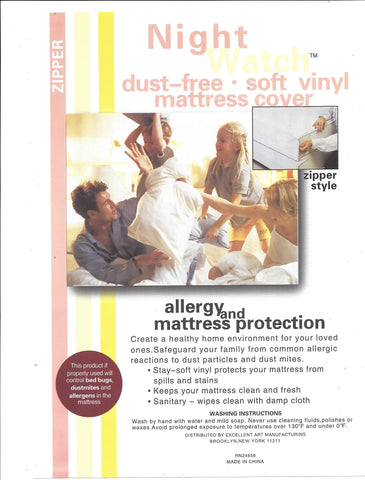 Vinyl Waterproof Mattress Protector- Zippered Closure - 5 Gauge