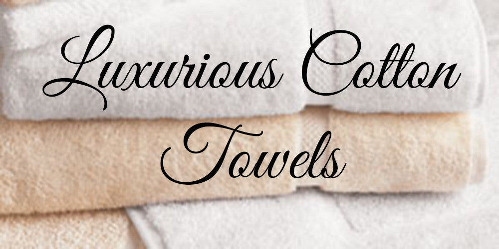luxurious cotton dobby towels