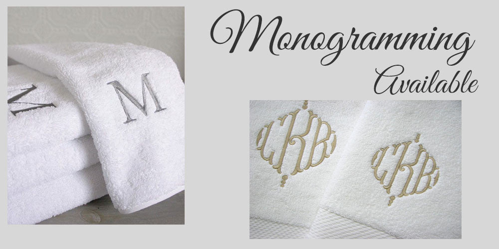 monogram sheets and towels