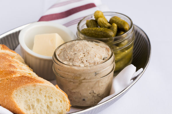 Small jar of rillettes