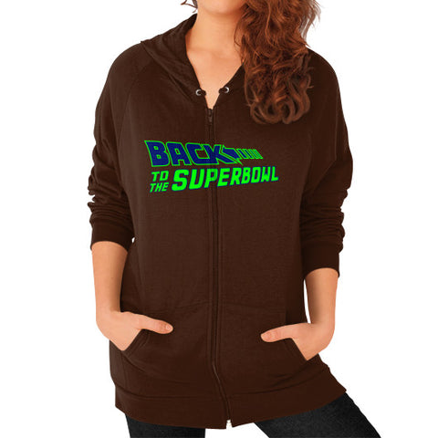 Back to the Superbowl Women's Zip Hoodie