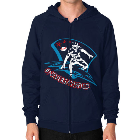 #NeverSatisfied Men's Zip Hoodie