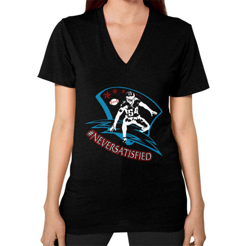 #NeverSatisfied Women's V-Neck