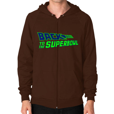 Back to the Superbowl Men's Zip Hoodie