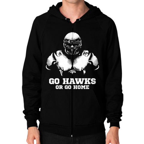 Go Hawks or Go Home 2.0 Men's Zip Hoodie