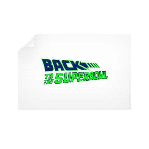 Back to the Superbowl Horizontal Wall Decals
