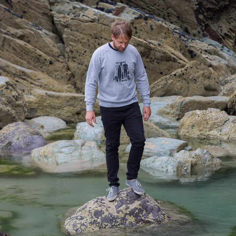 Be Prepared Crew Neck - Heather Grey