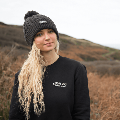 Season Surf Black Jumper