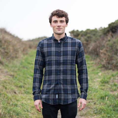 Ocean Check shirt - Navy