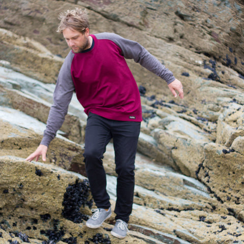 Raglan Burgundy Jumper