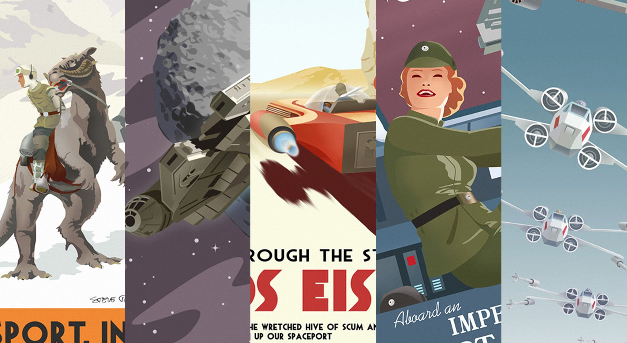 "Pulse Gallery Exclusive - Steve Thomas Star Wars ""Vintage Travel Poster"" series now available."