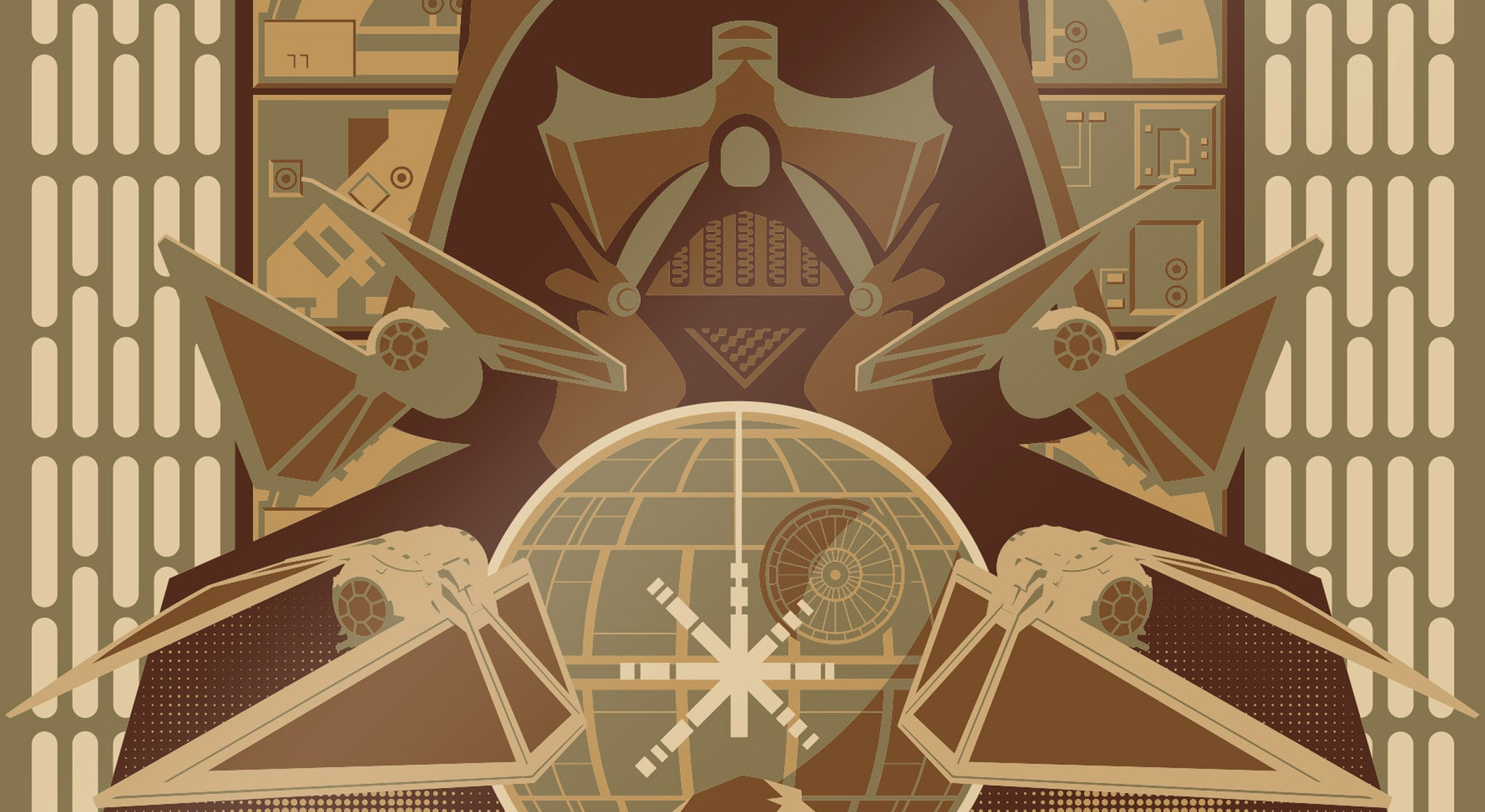EXCLUSIVE Rogue One 50 Piece Limited Edition Metallic Gold Screen Print by Mark Daniels