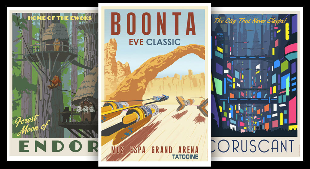 "The Steve Thomas Star Wars ""Vintage Travel Poster"" Collection Continues!"