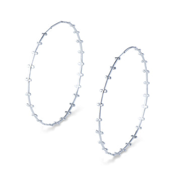 Bellatrix Silver Hoops