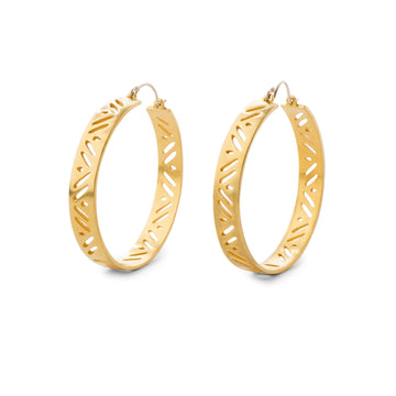 Hathor Golden Hoops
