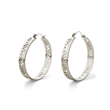 Hathor Silver Hoops