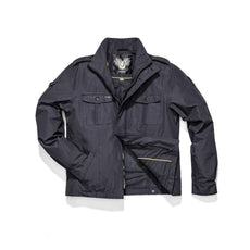 Men's waist length military style jacket in Navy