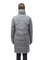Women's down filled parka with cocoon silhouette and a beautiful shawl collar in Concrete | color