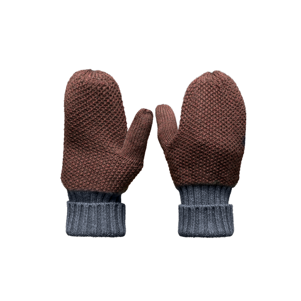 Knit Mitts in H. Burgundy | color