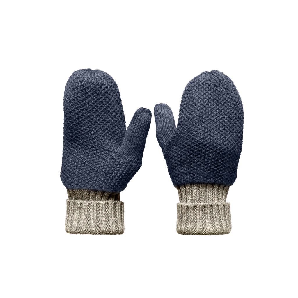 Knit Mitts in Navy | color