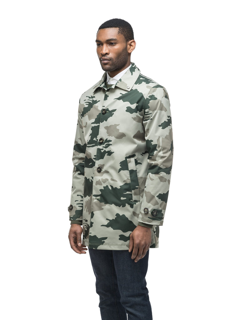 Men's Macintosh style raincoat in Army Green Camo| color