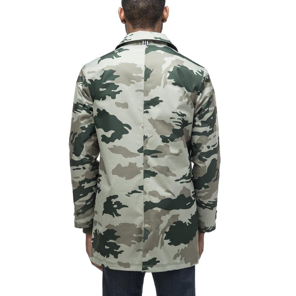 Men's Macintosh style raincoat in Army Green Camo | color