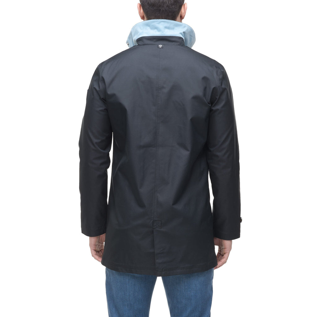 Men's Macintosh style raincoat in Black | color