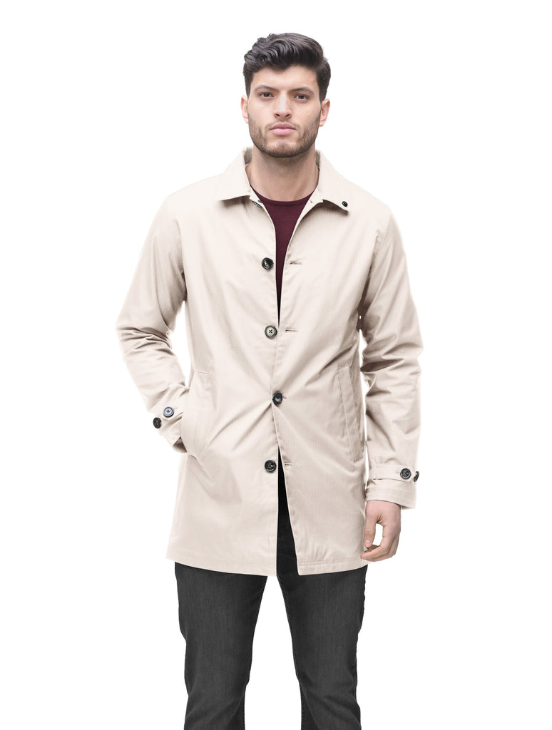 Men's Macintosh style raincoat in Camel| color