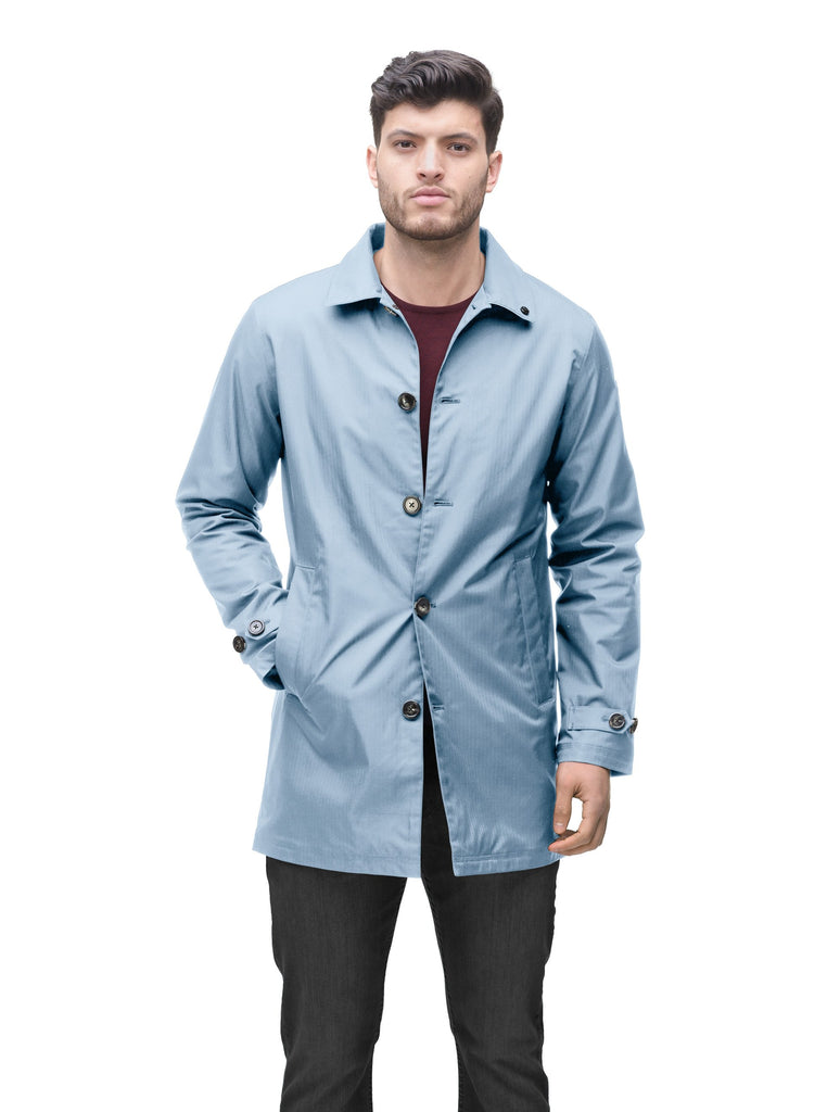 Men's Macintosh style raincoat in Slate Blue| color