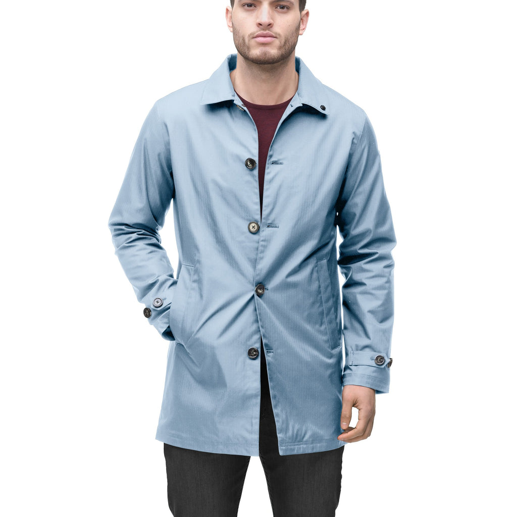 Men's Macintosh style raincoat in Slate Blue | color