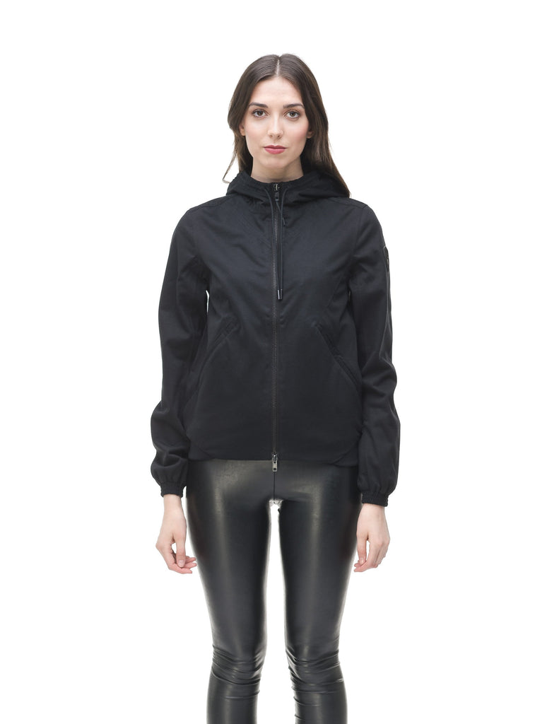 Women's lightweight jersey down filled jacket in Black| color