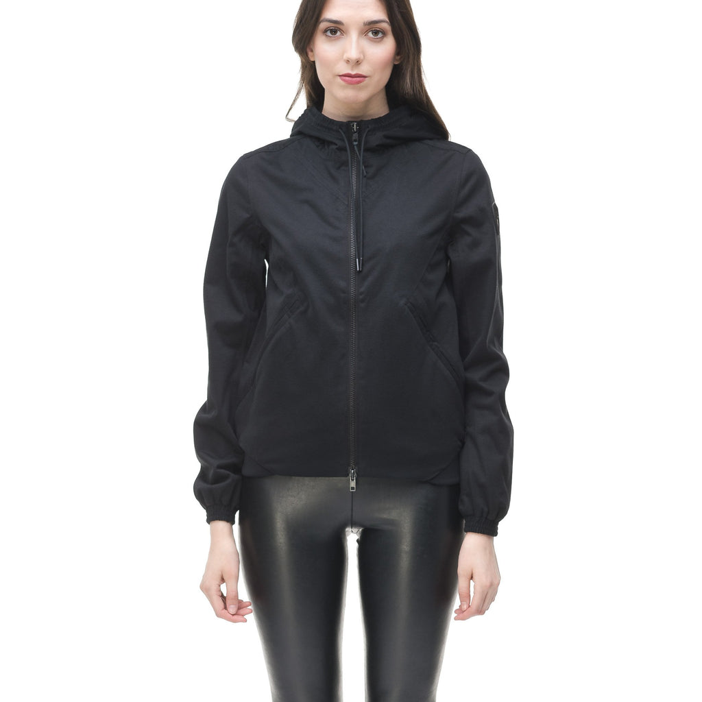 Women's lightweight jersey down filled jacket in Black | color