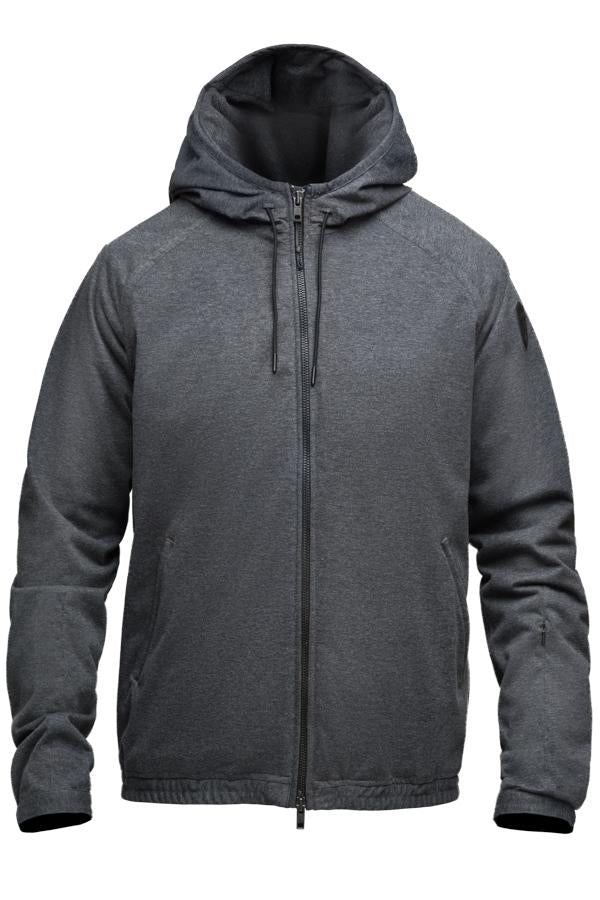 Men's hooded zip up sweater in Charcoal| color