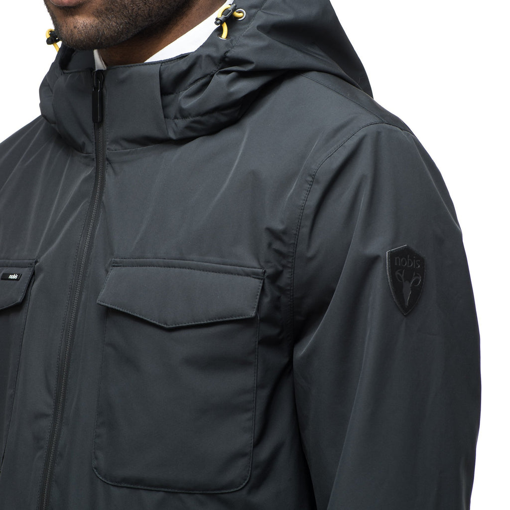 Men's waist length jacket in Black | color