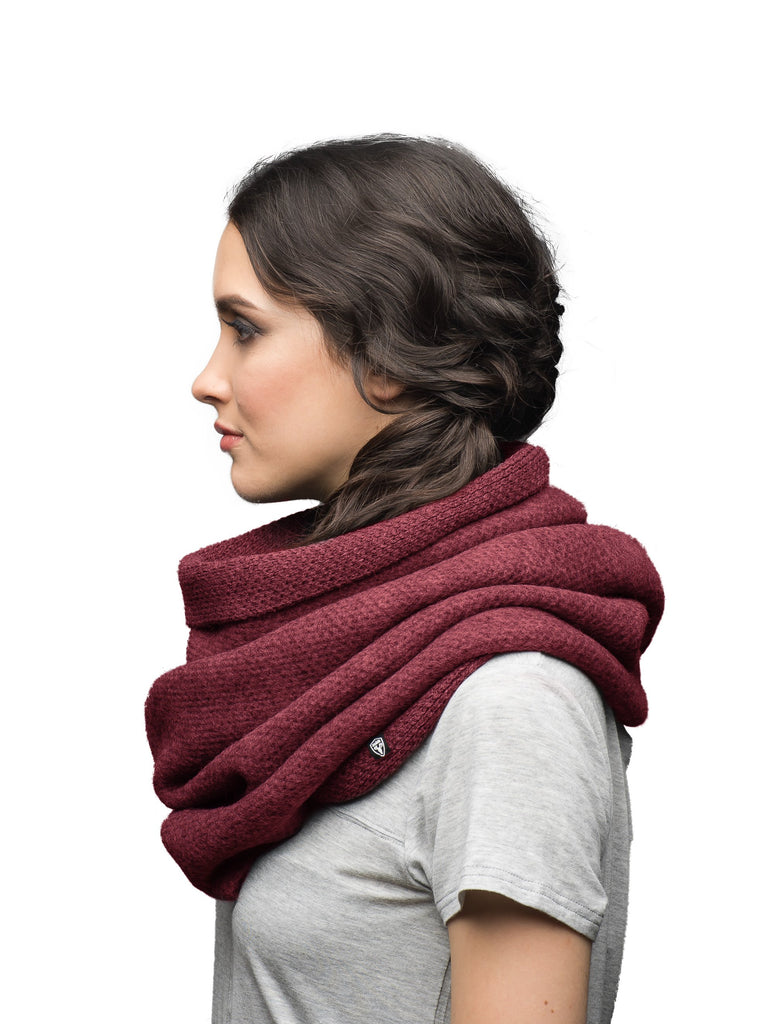 Infinity style loose knit scarf in Red| color