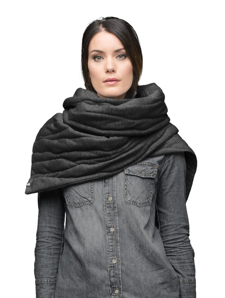 Oversized blanket scarf in Black| color