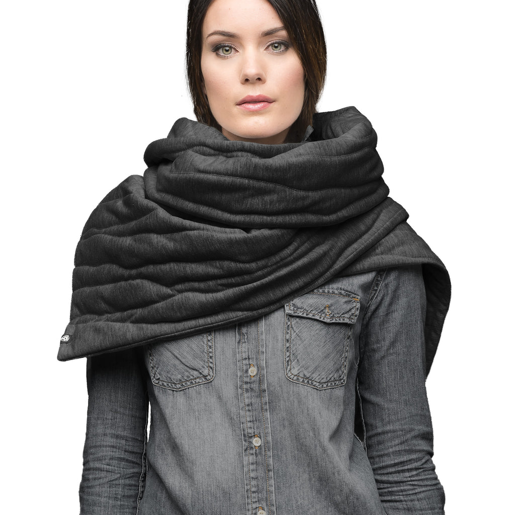Oversized blanket scarf in Black | color