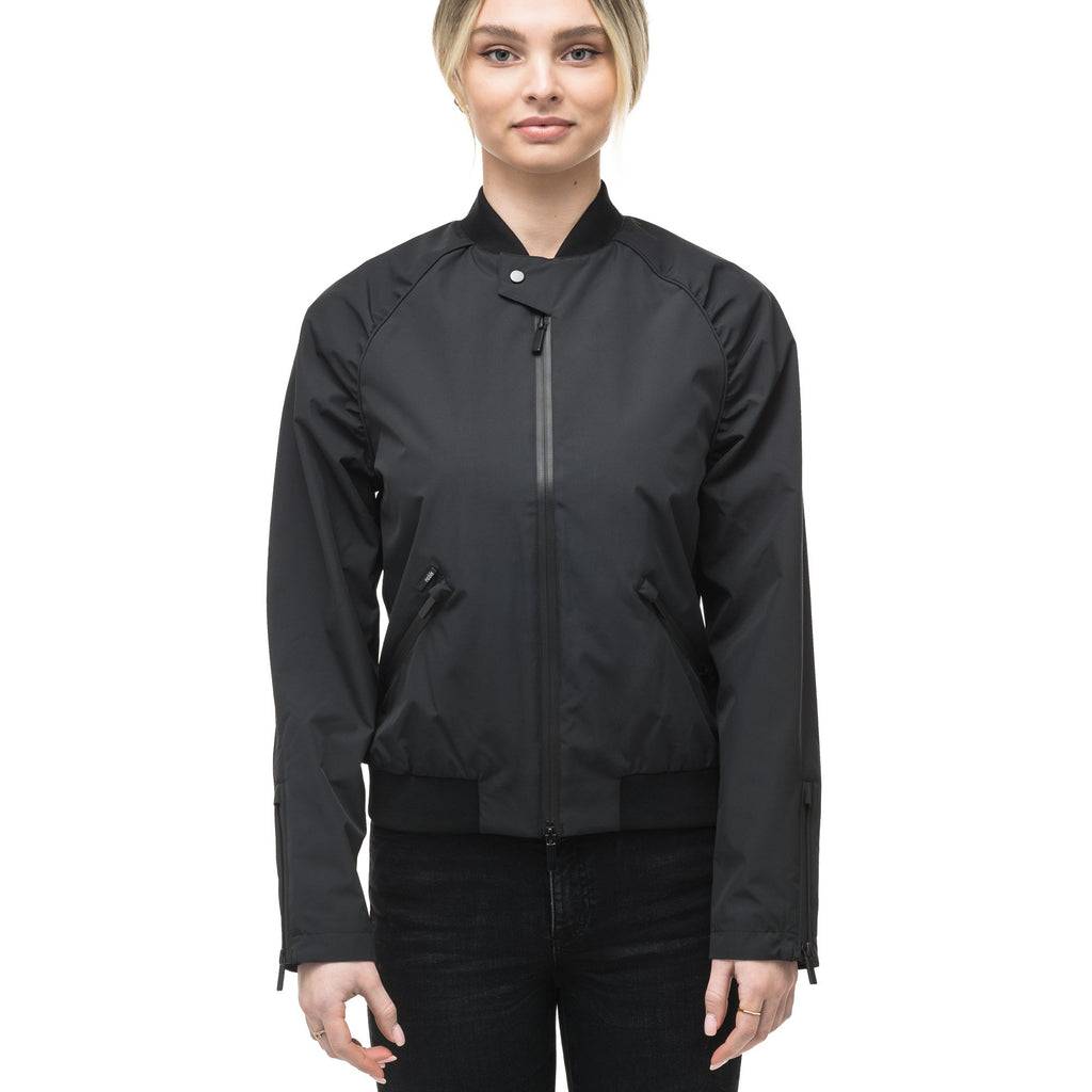 Womens classic bomber jacket called Phoebe in Black | color