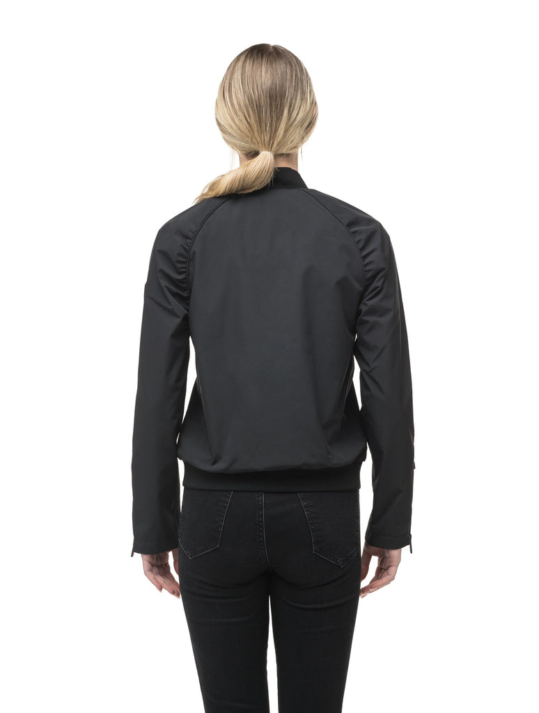 Women's classic bomber jacket called Phoebe in Black| color