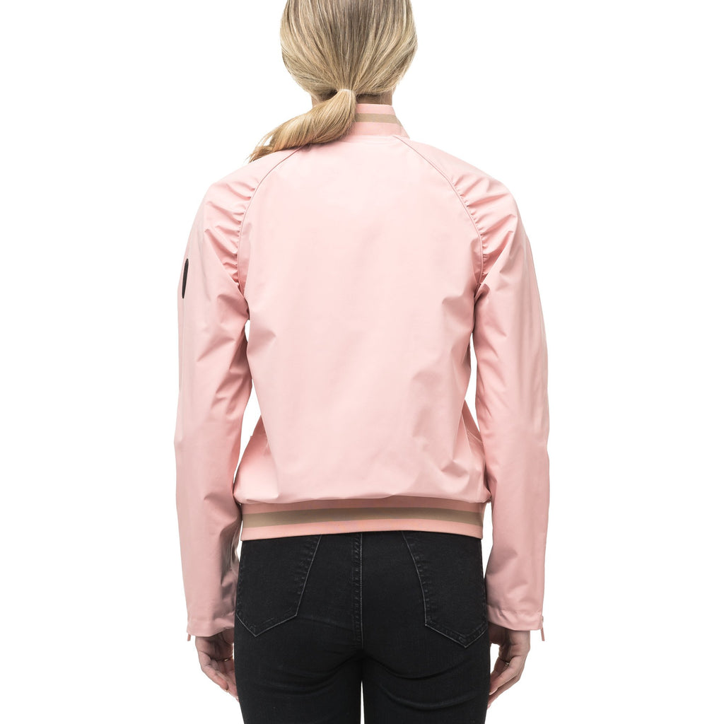Women's classic bomber jacket called Phoebe in Shell Pink | color
